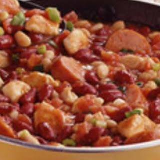 Sausage and Bean Skillet Stew.