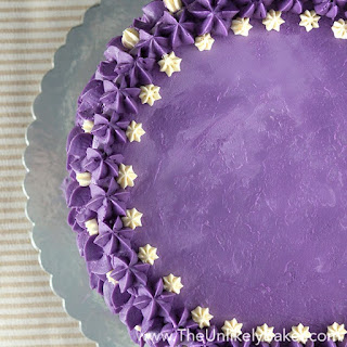 Ube Cake (Filipino Purple Yam Cake).