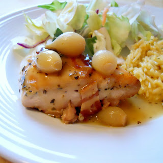Slow Cooker Chicken with White Wine Sauce.