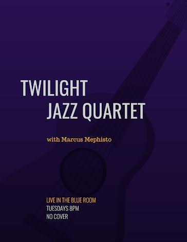 Twilight Jazz Quartet - Flyer template
