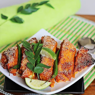 baked fish recipe Indian style | grilled fish recipes.