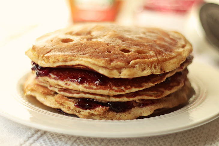 Oatmeal Pancakes with Cherry and Ginger Recipe