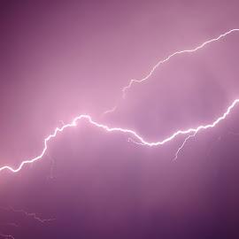 Lightning  by Shanna L Christensen - Uncategorized All Uncategorized ( lightning, sky, storm, light, nature, streak )