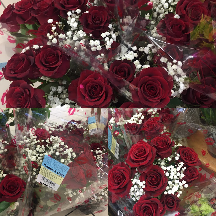 Valentine's roses from Checkers.