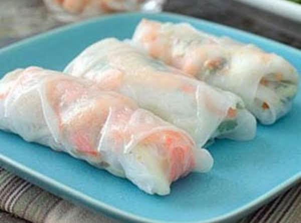Vegetable & Shrimp Spring Rolls Recipe