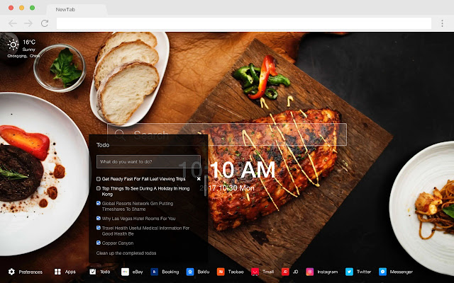 Vietnamese Popular Food HD New Tabs Theme