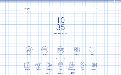 Sheet of notebook | Xperia™ Theme + icons app for Android screenshot