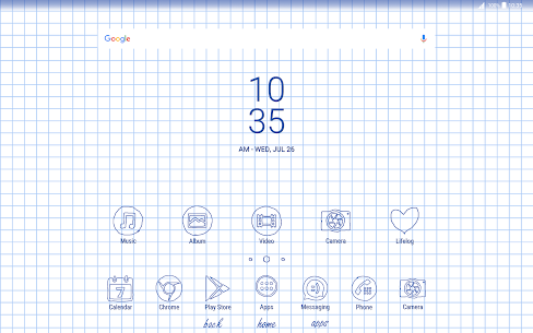 Sheet of notebook | Xperia™ Theme + icons 3.0.001 PAID 9