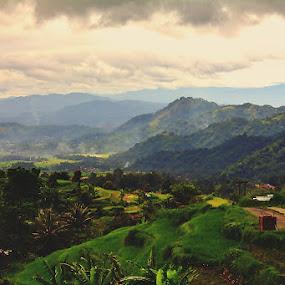 Comfortable to look at and soothe the soul by Syafriadi S Yatim - Landscapes Mountains & Hills ( #priyangan #tanah datar #batudangkar #minang kabau #indonesia #travel )