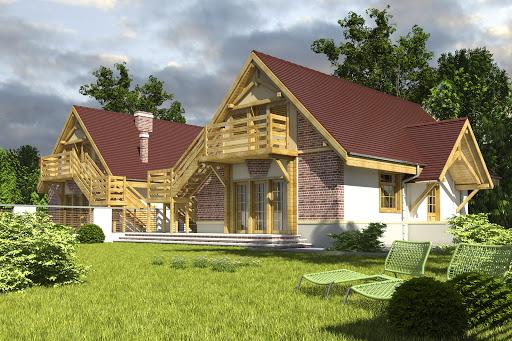 projekt Lolek z garażem 1-st. bliźniak A-BL1