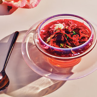Chilled Beet-and-Sauerkraut Soup With Horseradish and Crème Fraîche