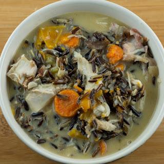 Instant Pot Turkey Soup with Wild Rice.