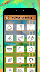 Fruits Coloring Book & Drawing Book - Kids Game APK screenshot thumbnail 2