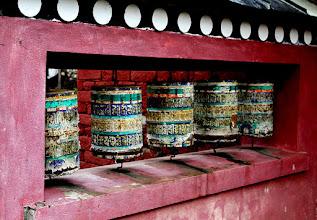 Photo: Prayer wheels - good luck for trekkers