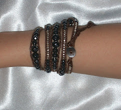 Photo: Geniune Chan Luu wrap bracelet in brown leather, silver nuggets and black onyx
