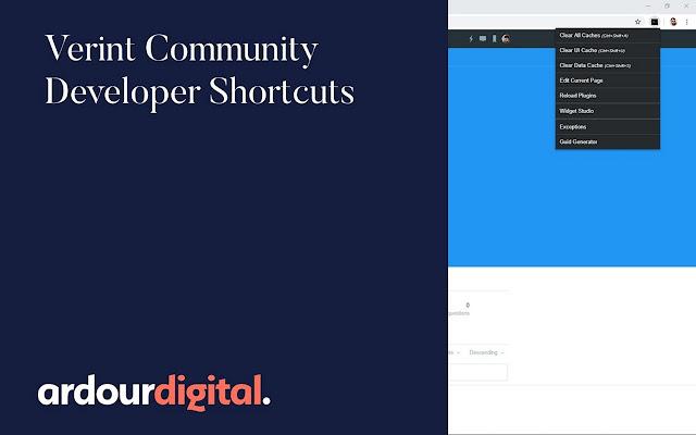 Verint Community Developer Shortcuts