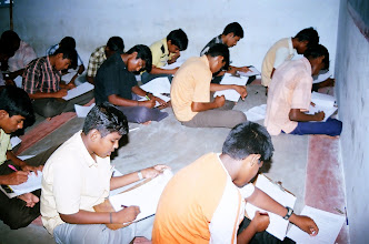 Photo: A section of our boys at the examination hall