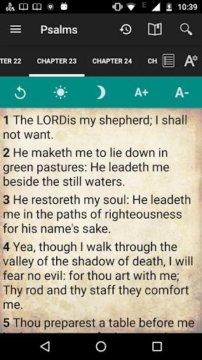 Holy Bible King James Version screenshot 4