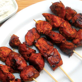 Spicy Chicken Skewers.