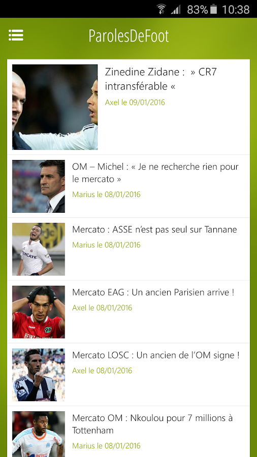 Mercato / Actu Foot - PDF- screenshot