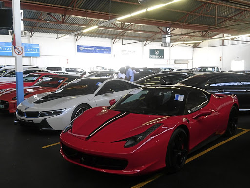 This repossessed Ferrari 458 fetched R3.3m.    Picture: PARK VILLAGE AUCTIONS