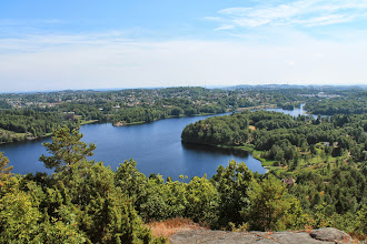Photo: We go hiking to Ugleboknuten for a  view of Longumvannet (Longum Lake)