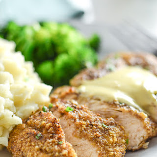 Pecan Crusted Chicken with Honey Mustard Aioli.