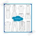 Fashion Design Sketches Flat icon