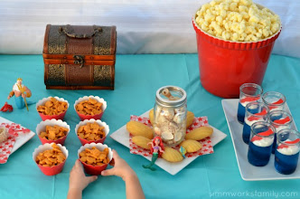 Photo: The Little Mermaid Story Gift Set was the perfect addition to our Under the Sea spread. It set the scene for our movie and made excellent play toys for the kids to enjoy as we watched the film.