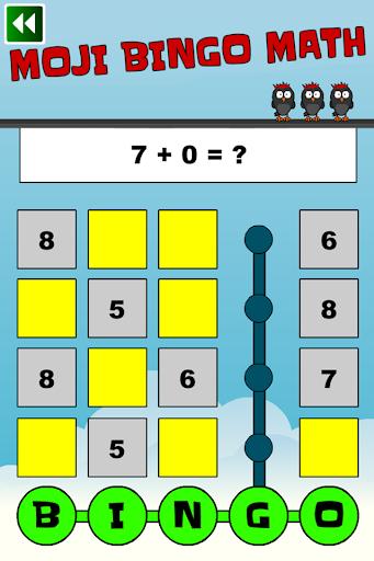 Moji Bingo Math