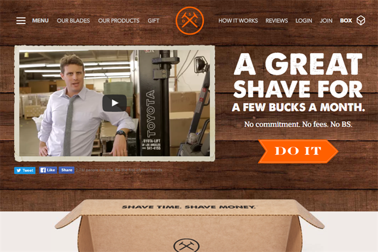 Dollar Shave Club video content from original Youtube ad.
