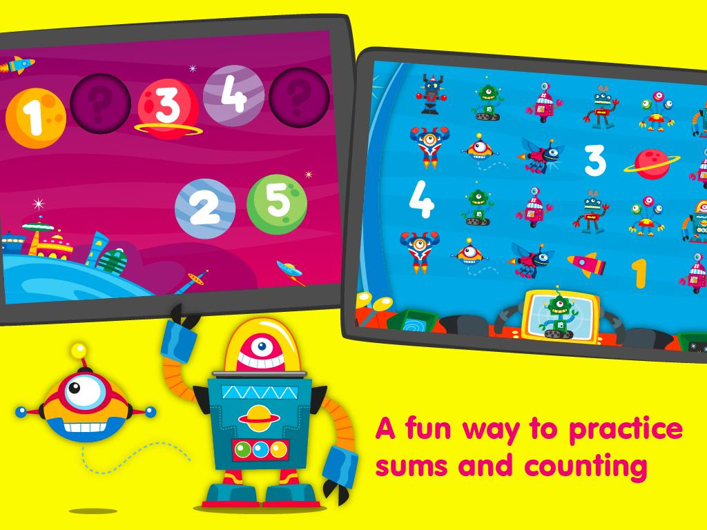 Robots & Numbers, math games- screenshot