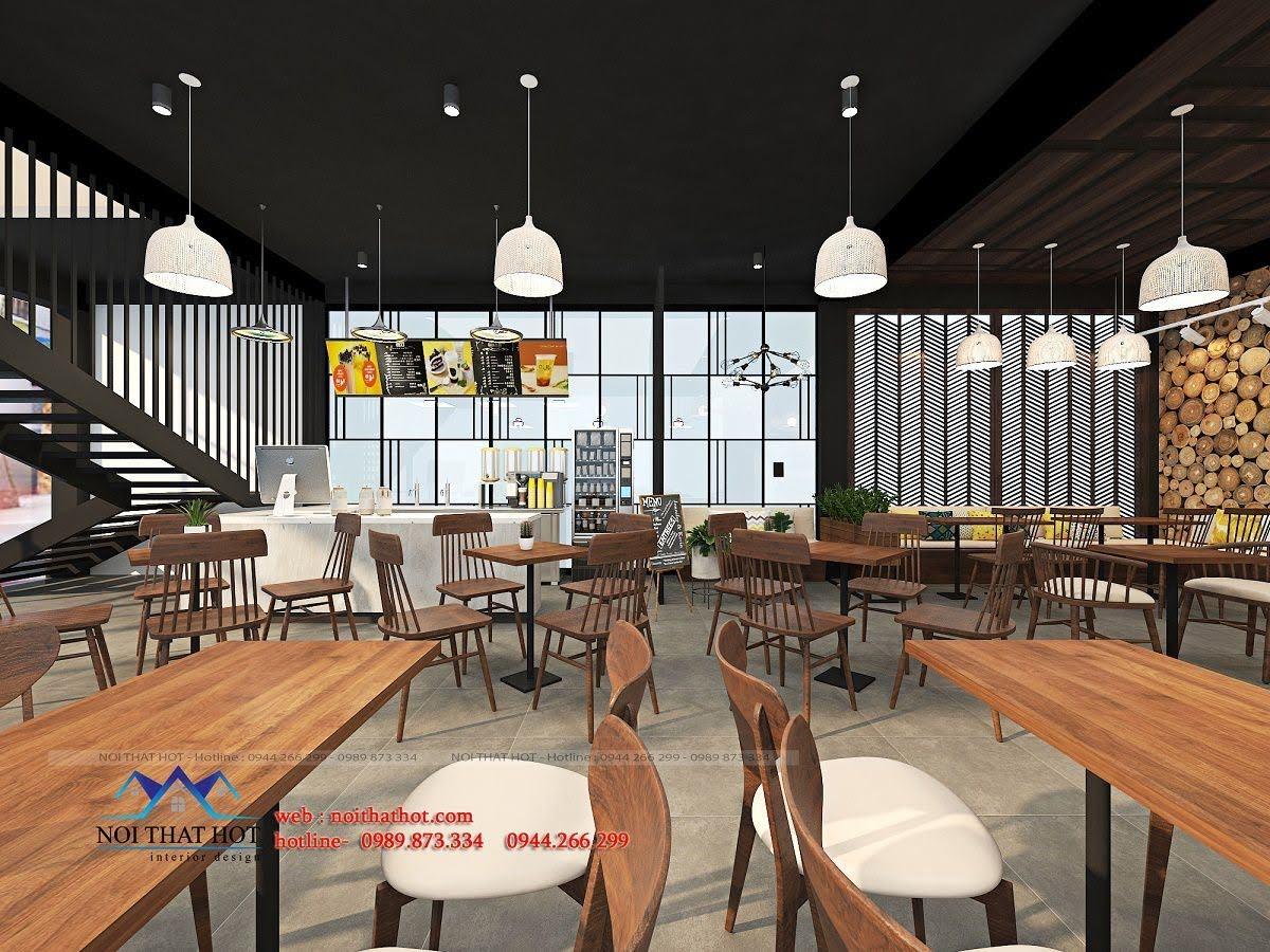 thiết kế quán trà sữa cafe và siêu thị 10