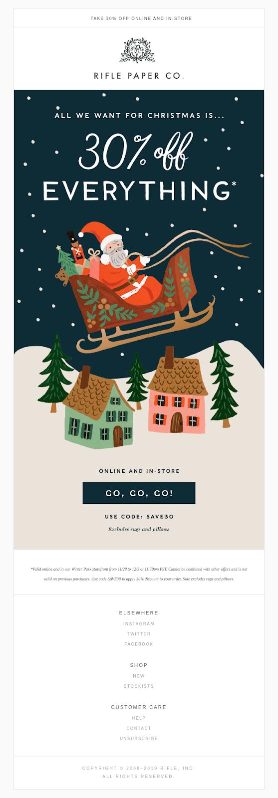 seasonal messaging template