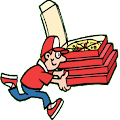 Repartidor de pizzas Accesible