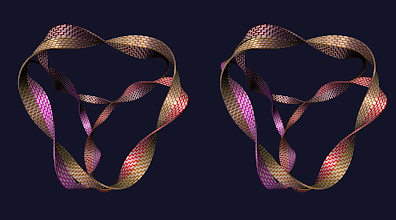 Photo: joined ribbons (thickness = 1)