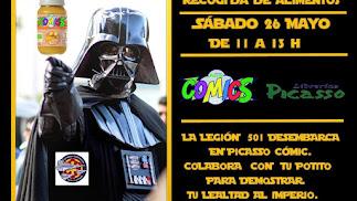 Recogida de Potitos Solidarios de la Legion 501 Spanish Garrison en Picasso Cómic