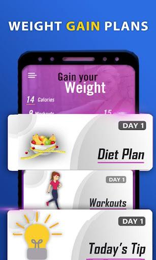 Download Weight gain in 30 days: Diet plan & Workouts 1.3 2