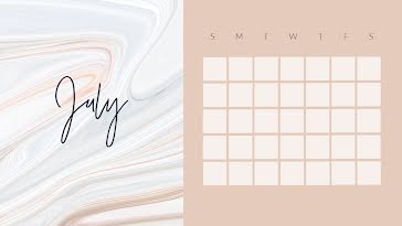 Marbled Monthly - Monthly Calendar template