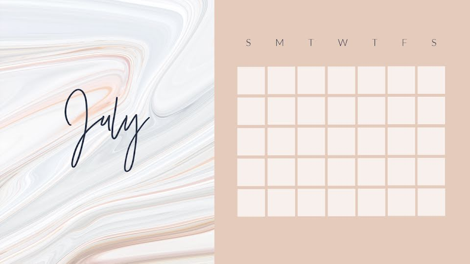 Marbled Monthly - Calendar Template