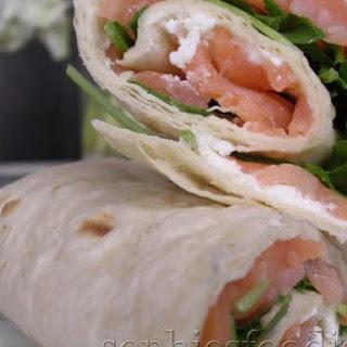 Sophie's Smoked Salmon & Ricotta Wraps