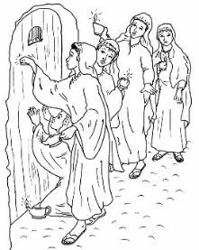 Ten Virgins Coloring Pages