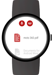 Documents for Wear OS (Android Wear) Screenshot