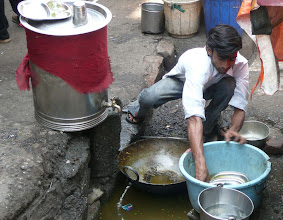 Photo: Dish Washing On The Street For A Local Eatery