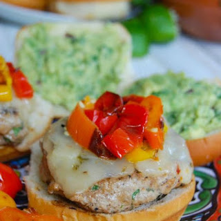 Sweet and Spicy Turkey Burgers with Guacamole