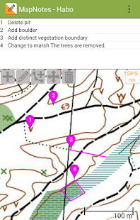 Orienteering Map Notes - náhled