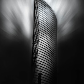 dark future   by Agha Rafay - Black & White Buildings & Architecture ( love, blackandwhite, monochromatic, life, monochrome, black and white, art, fine art photography, fine art, like4like, construction, engineering )