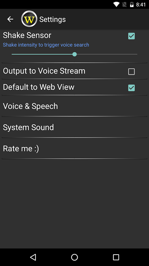 Voice Wiki- screenshot