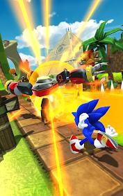 (APK) تحميل لالروبوت / PC Sonic Forces: Speed Battle ألعاب screenshot