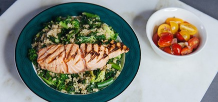 Brown Rice Bowl with Salmon